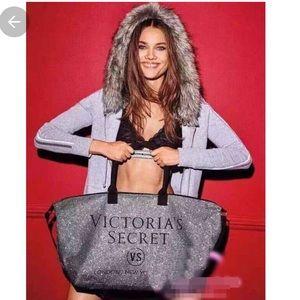 Victoria's Secret Silver Glittery Tote Bag